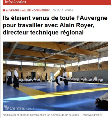 aikido, commentry, ffaaa, alain royer